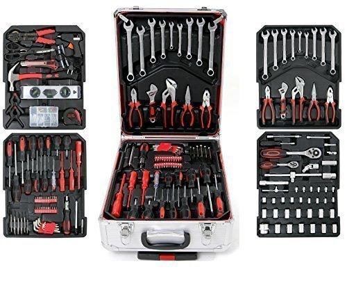 Balinco 251-teiliger Chrom Vanadium Werkzeugkoffer mit Werkzeug bestückt Werkzeug Trolley Werkzeugbox Werkzeugkiste Werkzeugkasten