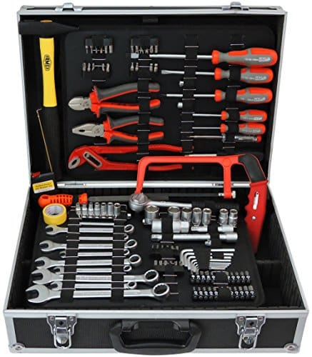 FAMEX 758-65 Werkzeugkoffer 115-/insgesamt 130-tlg