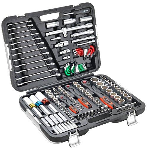 Connex Premium-Werkzeugkoffer/Steckschlüsselsortiment KFZ 160-teilig COXBOH600160