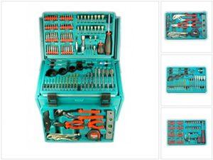 Makita 3-Fach Schubladenkoffer inkl. 126-teiliger Werkzeug Set für 6260, 6261, 6270, 6271, 6280, 6281, 8270, 8271, 8280, 8281 DWAETC