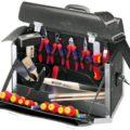 KNIPEX 00 21 02 SL Werkzeugtasche 24-teilig Lehrlings-Werkzeugtasche für die Elektroinstallation