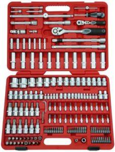 Famex Werkzeug 525-21 Steckschlüsselsatz mit Gelenk- und Feinzahnknarre, 12.5 mm (1/2-Zoll)- und 6.3 mm (1/4-Zoll)-Antrieb, 4-32 mm, 174-teilig